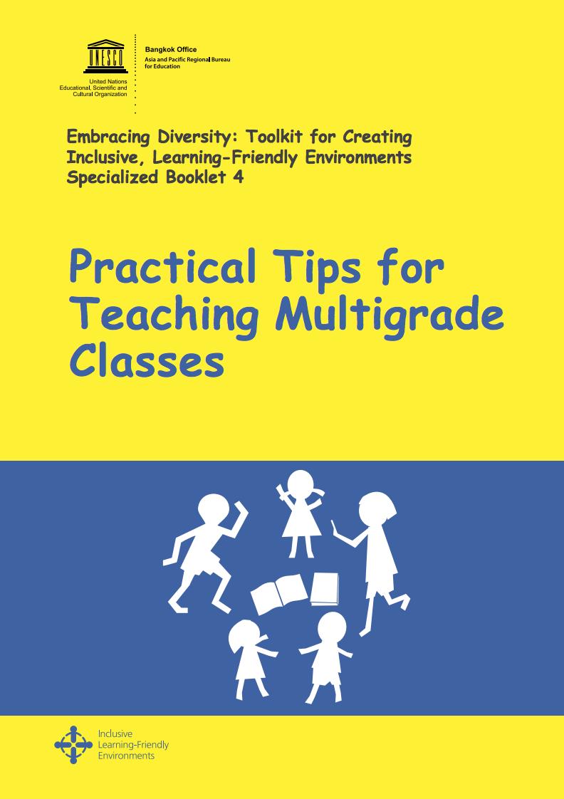 Practical Tips For Teaching Multigrade Classes Unesco Digital Library